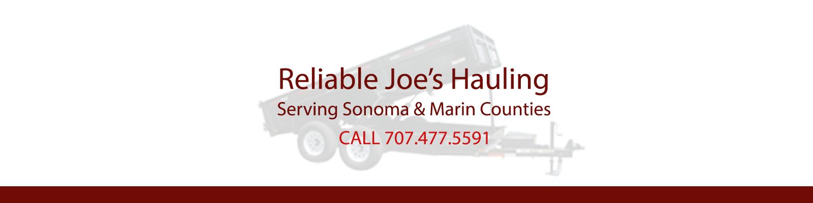 Sonoma County Junk Removal, Hauling, Dump Runs
